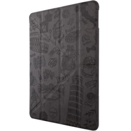 Чехол-книжка Ozaki O!coat Travel Rome для Apple iPad Air 2 (полиуретан с подставкой) Black