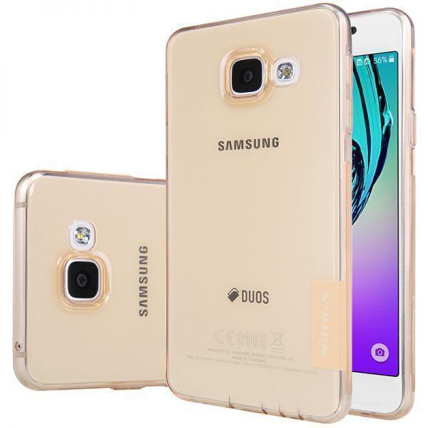 Чехол-накладка Nillkin Nature для Samsung Galaxy A3 (2016) SM-A310 силиконовый прозрачно-золотойдля Samsung<br>Чехол-накладка Nillkin Nature для Samsung Galaxy A3 (2016) SM-A310 силиконовый прозрачно-золотой<br>