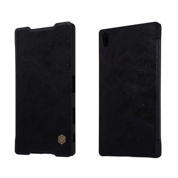 Чехол-книжка Nillkin QIN Leather Case для Sony Xperia Z5 Premium натуральная кожа черный
