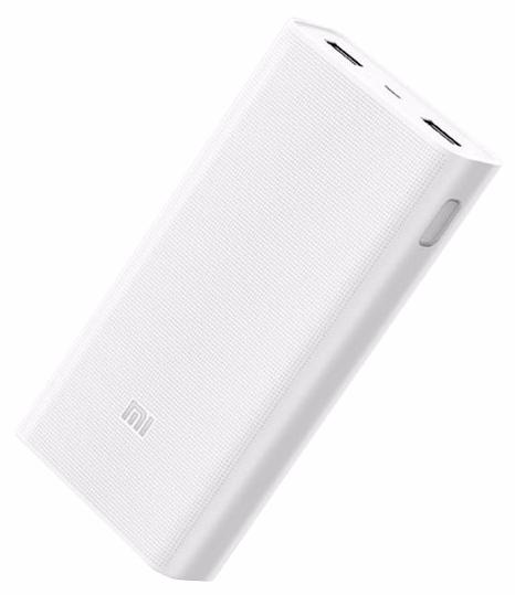 Универсальный внешний аккумулятор Xiaomi Mi Power Bank 2 20000 mAh, Q 3.0, USBx2 пластик белый