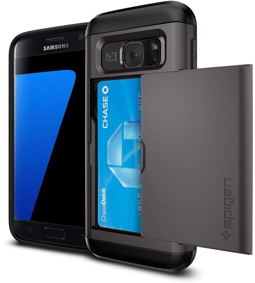 Чехол-накладка Spigen Slim Armor CS для Samsung Galaxy S7 (SGP 555CS20016) Gunmetalдля Samsung<br>Чехол-накладка Spigen Slim Armor CS для Samsung Galaxy S7 (SGP 555CS20016) Gunmetal<br>