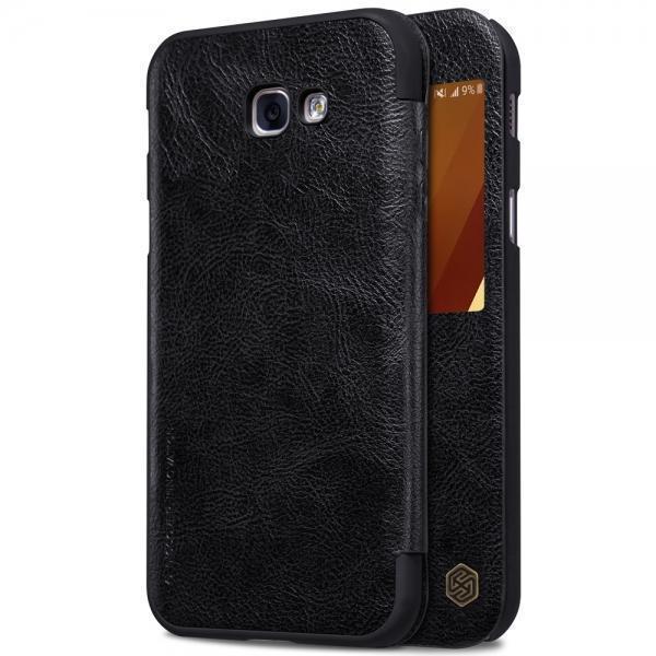Чехол-книжка Nillkin QIN Leather Case для Samsung Galaxy A3 (2017) SM-A320F натуральная кожа черныйдля Samsung<br>Чехол-книжка Nillkin QIN Leather Case для Samsung Galaxy A3 (2017) SM-A320F натуральная кожа черный<br>