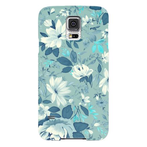 Чехол-накладка Lily для Samsung Galaxy S5 (SM-G900) силиконовый (цветы) фото