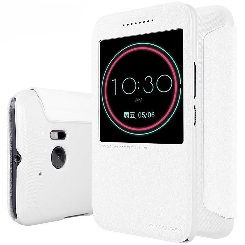 Чехол-книжка Nillkin Sparkle Series для HTC 10 / 10 Lifestyle пластик-полиуретан (белый)для HTC<br>Чехол-книжка Nillkin Sparkle Series для HTC 10 / 10 Lifestyle пластик-полиуретан (белый)<br>