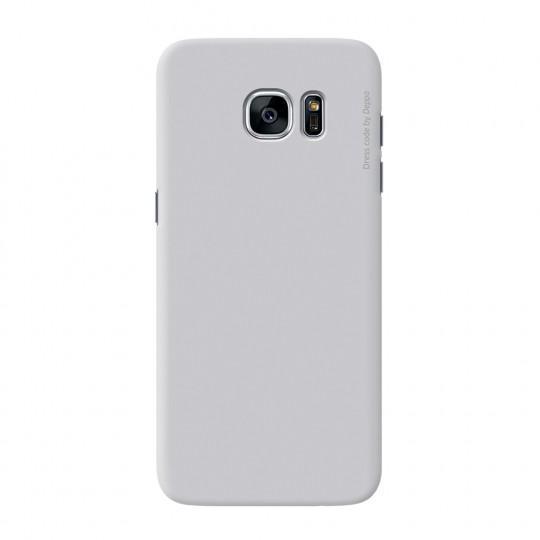 Чехол-накладка Deppa Air Case для Samsung Galaxy S7 Edge (SM-G935) пластик серебристыйдля Samsung<br>Чехол-накладка Deppa Air Case для Samsung Galaxy S7 Edge (SM-G935) пластик серебристый<br>