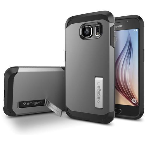 Чехол-накладка Spigen Tough Armor SGP11339 для Samsung Galaxy S6 резина, пластик (серебристый)