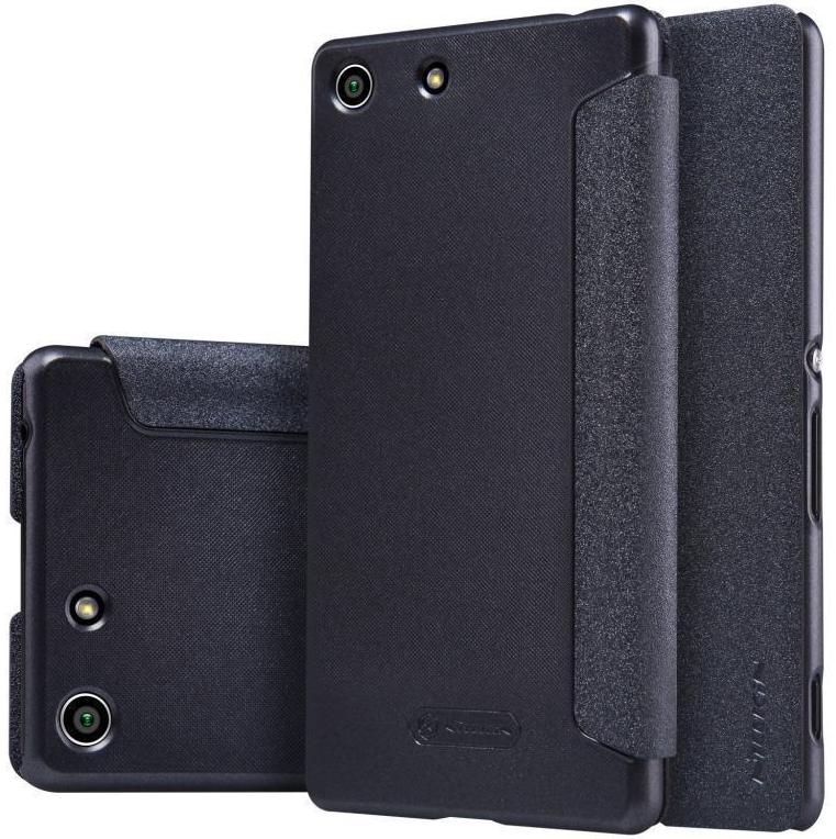 Чехол-книжка Nillkin Sparkle Series для Sony Xperia M5 / M5 Dual пластик-полиуретан (черный) фото