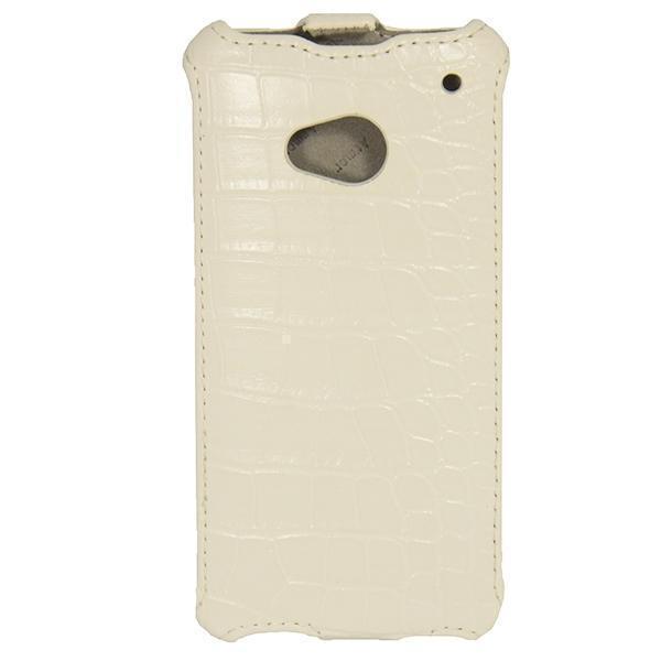 Чехол-книжка Armor Case для HTC One M7 искусственная кожа кокодил белыйдля HTC<br>Чехол-книжка Armor Case для HTC One M7 искусственная кожа кокодил белый<br>