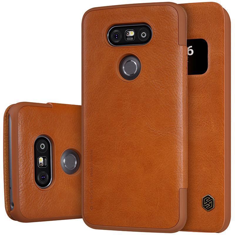 Чехол-книжка Nillkin QIN Leather Case для LG G5 / G5 SE (H860 / H845) натуральная кожа (коричневый)