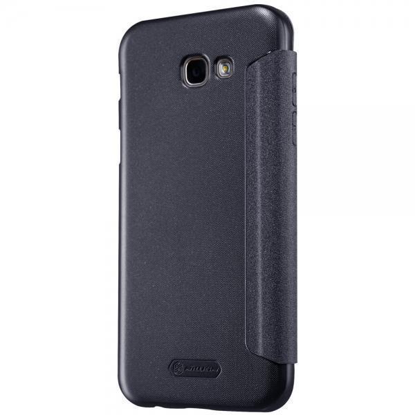 Чехол-книжка Nillkin Sparkle Series для Samsung Galaxy A7 (2017) SM-A720 пластик-полиуретан черныйдля Samsung<br>Чехол-книжка Nillkin Sparkle Series для Samsung Galaxy A7 (2017) SM-A720 пластик-полиуретан черный<br>