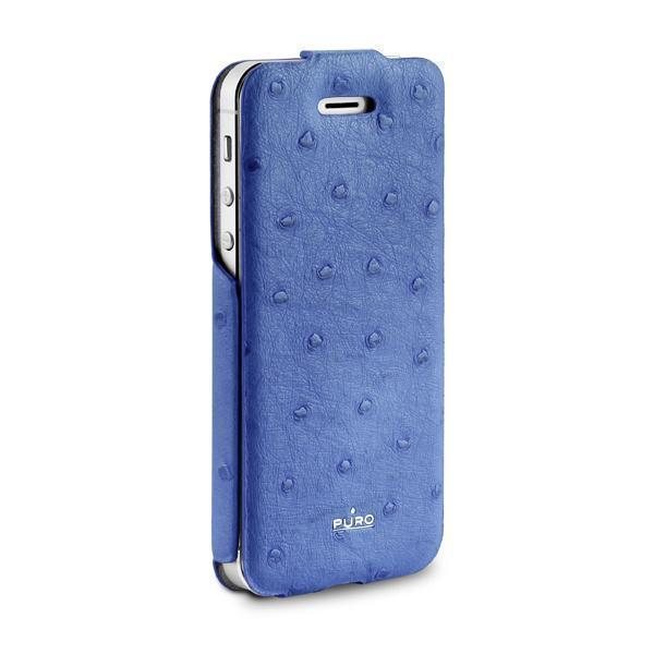 Чехол-книжка Puro Safari Flipper Case для Apple iPhone SE/5S/5 искусственная кожа синийдля iPhone 5/5S/SE<br>Чехол-книжка Puro Safari Flipper Case для Apple iPhone SE/5S/5 искусственная кожа синий<br>