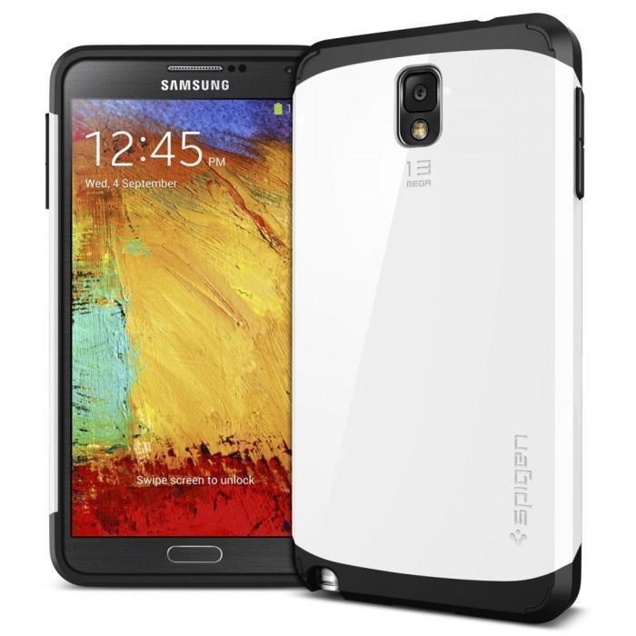 Чехол-накладка Spigen Slim Armor SGP10459 для Samsung Galaxy Note 3 резина, пластик (белый)для Samsung<br>Чехол-накладка Spigen Slim Armor SGP10459 для Samsung Galaxy Note 3 резина, пластик (белый)<br>