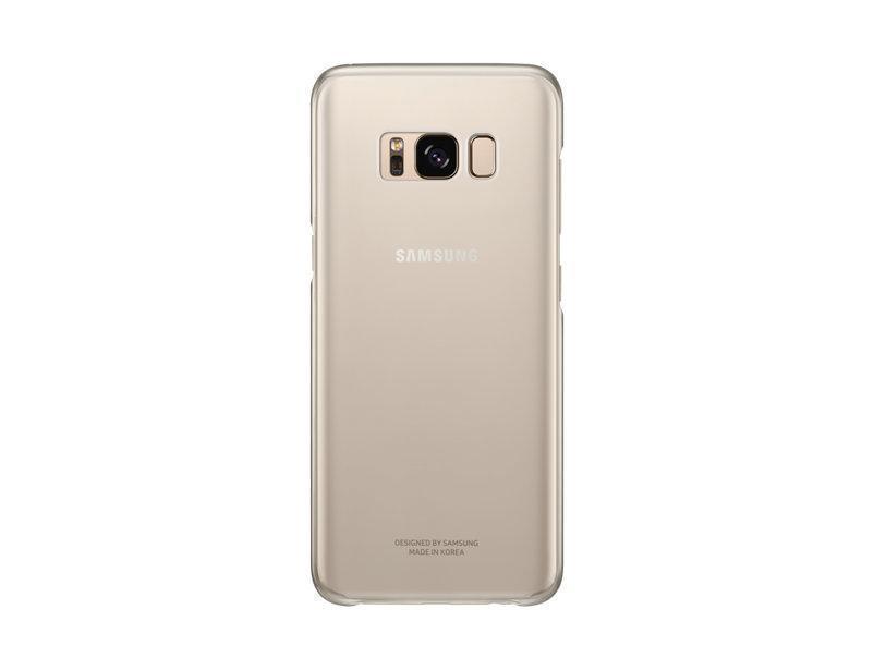 Чехол-накладка Samsung Clear Cover для Galaxy S8 пластик прозрачно-золотой (EF-QG950CFEGRU)для Samsung<br>Чехол-накладка Samsung Clear Cover для Galaxy S8 пластик прозрачно-золотой (EF-QG950CFEGRU)<br>