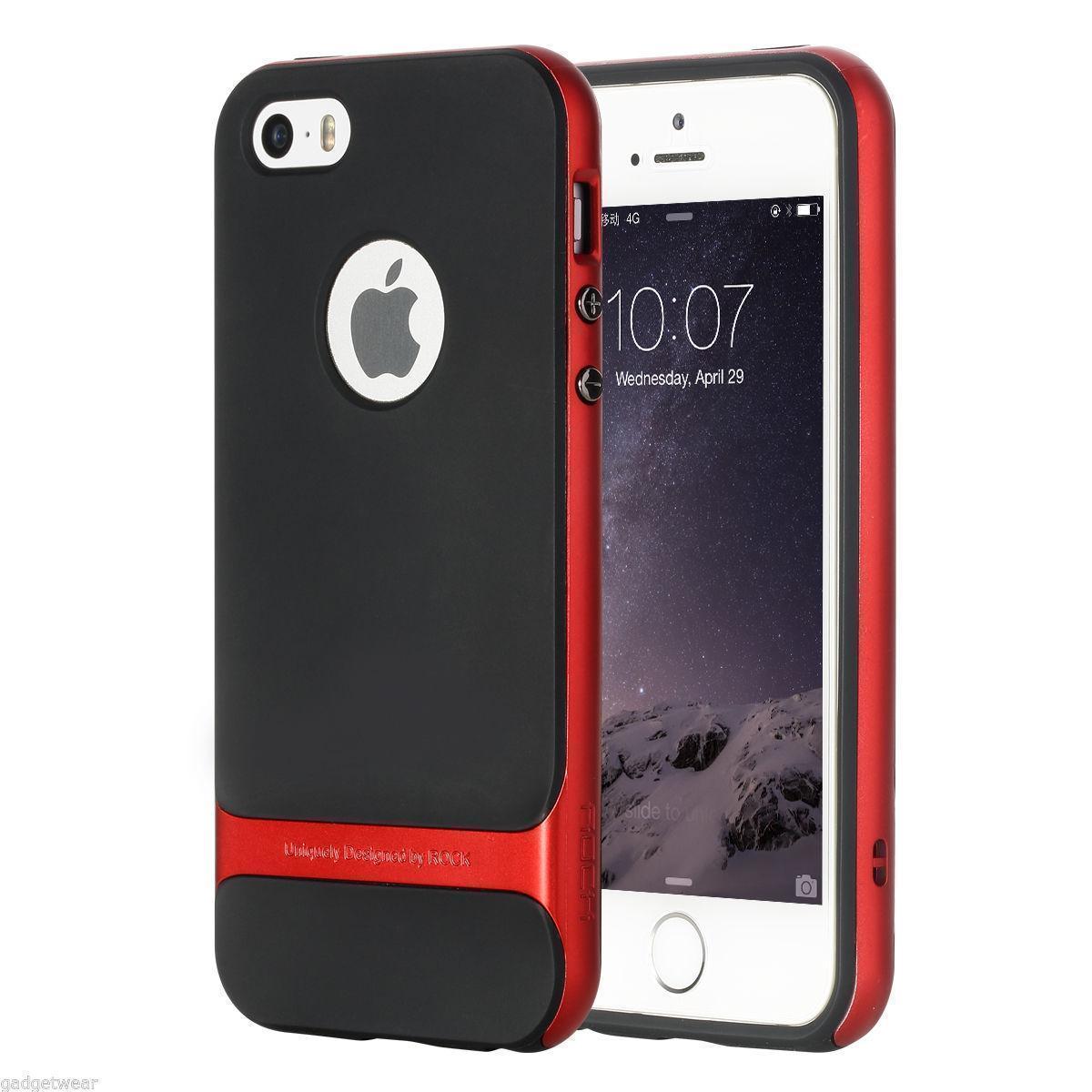 Чехол-накладка Rock Royce для Apple iPhone SE/5S/5 резина-пластик Redдля iPhone 5/5S/SE<br>Чехол-накладка Rock Royce для Apple iPhone SE/5S/5 резина-пластик Red<br>