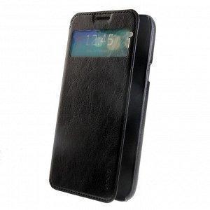 Чехол-книжка Hoco Crystal Series для Samsung Galaxy Mega 2 7.0 натуральная кожа (черный)