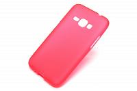 Купить Чехол-накладка Fashion Case для Samsung Galaxy J1 (J100 / J110) силиконовый (прозрачно-красный)