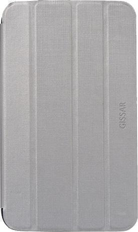 Чехол-книжка Gissar Cross Metallic для Samsung Galaxy Tab 3 7.0 T210/T211 натуральная кожа серыйдля Samsung<br>Чехол-книжка Gissar Cross Metallic для Samsung Galaxy Tab 3 7.0 T210/T211 натуральная кожа серый<br>
