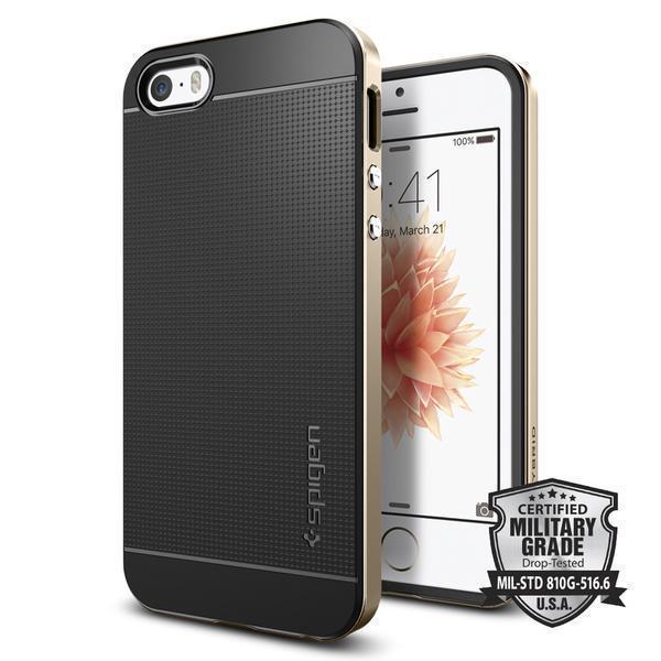 Чехол-накладка Spigen Neo Hybrid для Apple iPhone SE/5S/5 Champagne Gold (SGP 041CS20250)для iPhone 5/5S/SE<br>Чехол-накладка Spigen Neo Hybrid для Apple iPhone SE/5S/5 Champagne Gold (SGP 041CS20250)<br>
