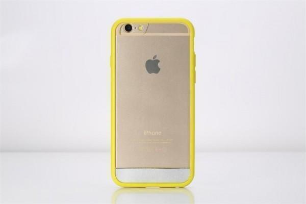 Чехол-накладка Rock Enchanting Series для Apple iPhone 6 Plus/6S Plus пластик-резина прозрачно-жёлтыдля iPhone 6 Plus/6S Plus<br>Чехол-накладка Rock Enchanting Series для Apple iPhone 6 Plus/6S Plus пластик-резина прозрачно-жёлтый<br>