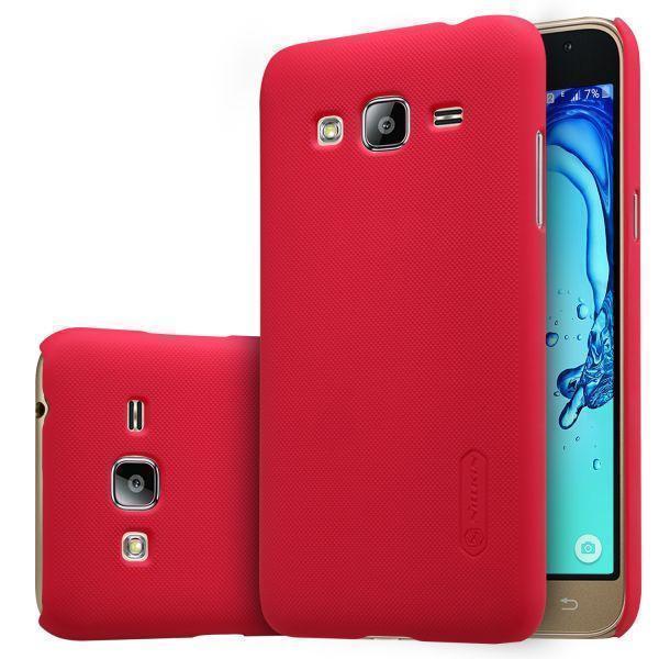 Чехол-накладка Nillkin Frosted Shield для Samsung Galaxy J3 (2016) SM-J320 пластиковый красныйдля Samsung<br>Чехол-накладка Nillkin Frosted Shield для Samsung Galaxy J3 (2016) SM-J320 пластиковый красный<br>