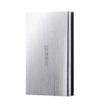 Универсальный внешний аккумулятор Remax Vanguard PowerBox 6000 mAh 1 А/ 2.1 А, USBx2 металл (Silver)