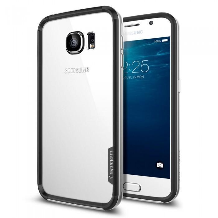 Бампер Spigen Neo Hybrid EX SGP11442  для Galaxy S6  (стальной)для Samsung<br>Бампер Spigen Neo Hybrid EX SGP11442  для Galaxy S6  (стальной)<br>