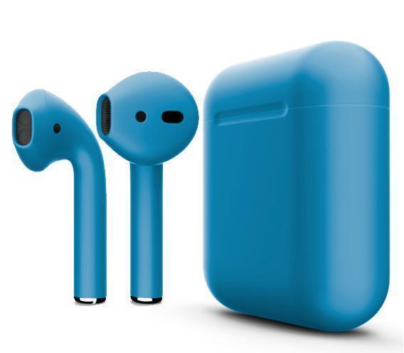 Купить Беспроводные Bluetooth cтерео-наушники Apple AirPods Matte Blue