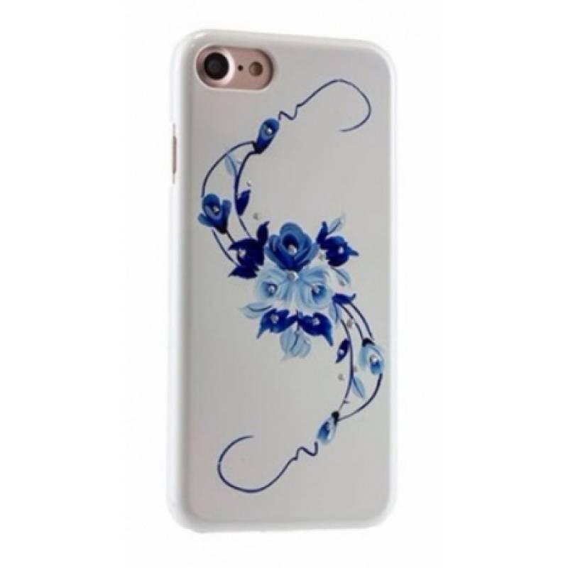 Чехол-накладка iCover HP Vintage Rose для Apple iPhone 7/8 пластиковый Blue (IP7R-HP/W-VR)для iPhone 7/8<br>Чехол-накладка iCover HP Vintage Rose для Apple iPhone 7/8 пластиковый Blue (IP7R-HP/W-VR)<br>