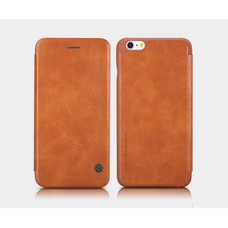 Чехол-книжка Nillkin QIN Leather Case для Apple iPhone 6 Plus/6S Plus натуральная кожа (коричневый)для iPhone 6 Plus/6S Plus<br>Чехол-книжка Nillkin QIN Leather Case для Apple iPhone 6 Plus/6S Plus натуральная кожа (коричневый)<br>