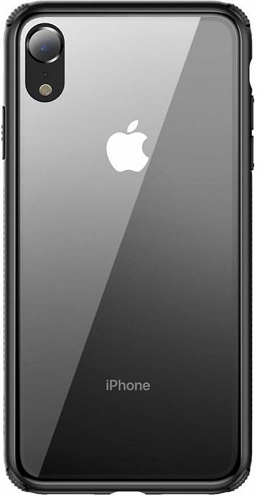 Купить Чехол-накладка Baseus See-through Glass для iPhone XR силикон/стекло (черный)