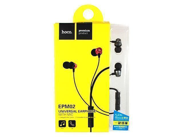 Проводная стерео-гарнитура Hoco EPM02 (вакуумные с микрофоном) greyНаушники<br>Проводная стерео-гарнитура Hoco EPM02 (вакуумные с микрофоном) grey<br>