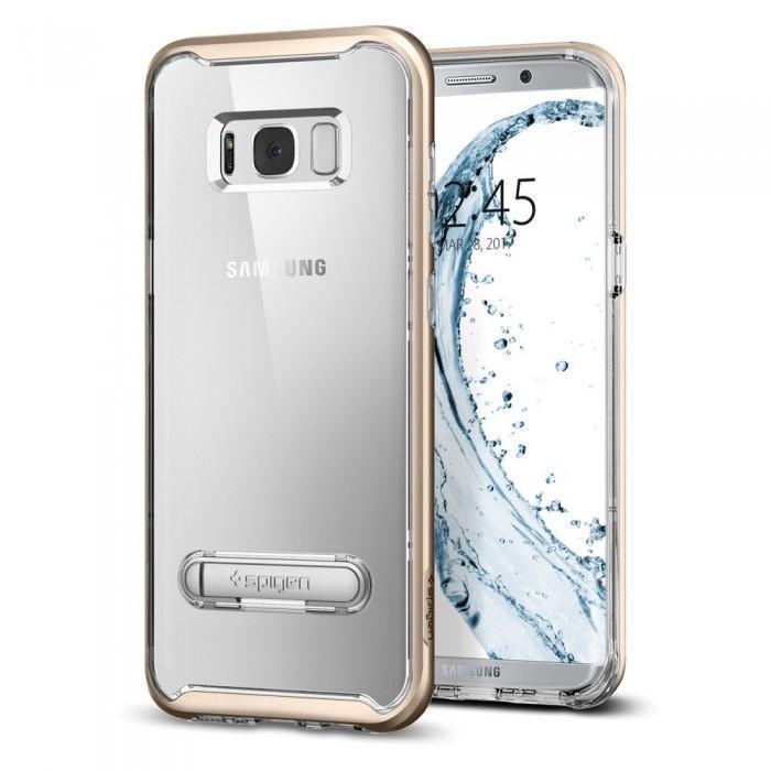 Чехол-накладка Spigen Crystal Hybrid для Samsung Galaxy S8+ золотой (SGP 571CS21127)для Samsung<br>Чехол-накладка Spigen Crystal Hybrid для Samsung Galaxy S8+ золотой (SGP 571CS21127)<br>