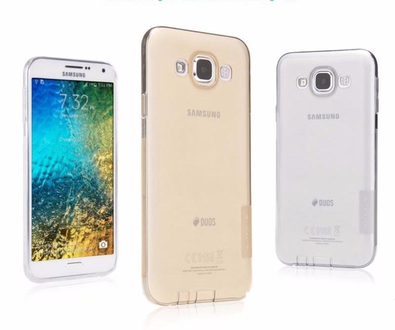 Чехол-накладка Nillkin Nature 0.6mm для Samsung Galaxy E5 SM-E500 силиконовый прозрачно-черныйдля Samsung<br>Чехол-накладка Nillkin Nature 0.6mm для Samsung Galaxy E5 SM-E500 силиконовый прозрачно-черный<br>