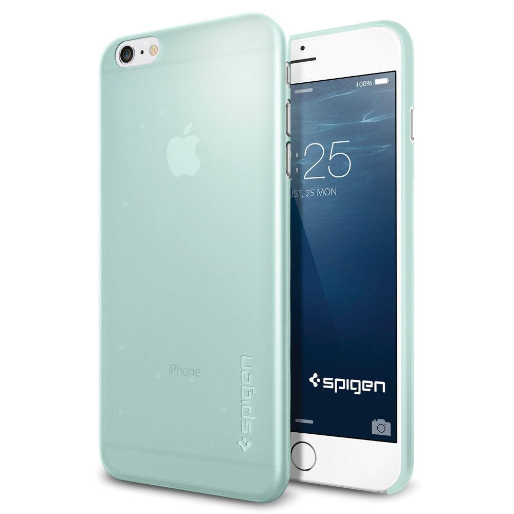 Чехол-накладка Spigen Air Skin для Apple iPhone 6 Plus/6S Plus Mint (SGP11159)для iPhone 6 Plus/6S Plus<br>Чехол-накладка Spigen Air Skin для Apple iPhone 6 Plus/6S Plus Mint (SGP11159)<br>