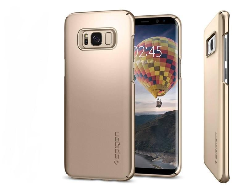Чехол-накладка Spigen Thin Fit для Samsung Galaxy S8 золотой (SGP 565CS21622)для Samsung<br>Чехол-накладка Spigen Thin Fit для Samsung Galaxy S8 золотой (SGP 565CS21622)<br>