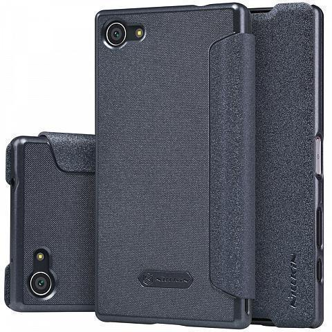 Чехол-книжка Nillkin Sparkle Series для Sony Xperia Z5 Compact пластик-полиуретан (черный)
