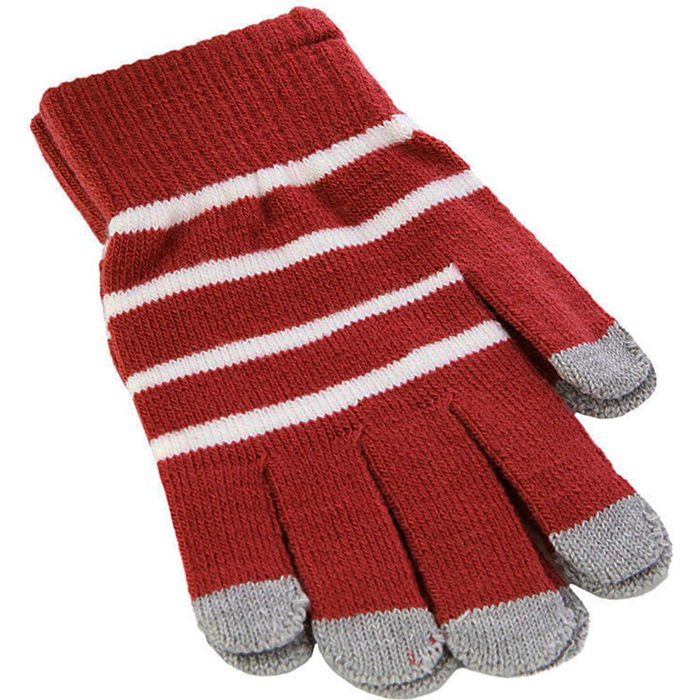 Перчатки для смартфона iCasemore трикотажные красные-белая полоскаПерчатки для смартфона<br>Перчатки для смартфона iCasemore трикотажные красные-белая полоска<br>