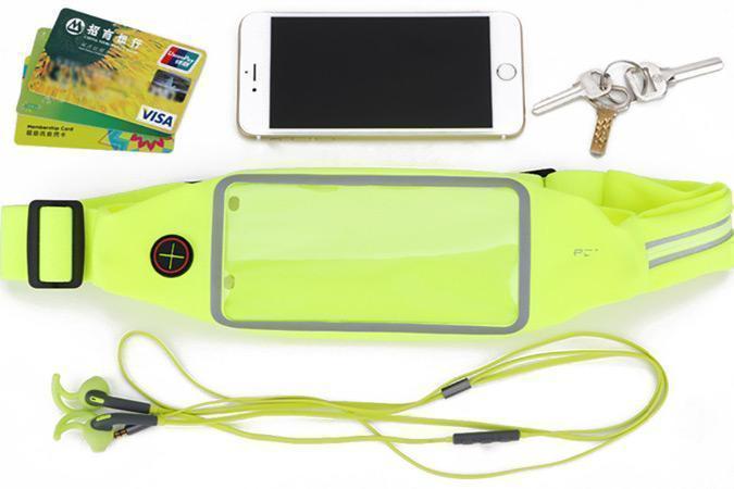 Сумка поясная Rock Universal Running Belt для смартфона универсальная (green)Универсальные, спортивные, водонепроницаемые<br>Сумка поясная Rock Universal Running Belt для смартфона универсальная (green)<br>