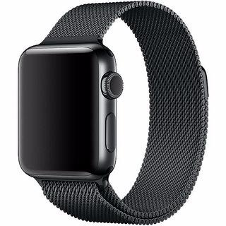 Купить со скидкой Ремешок нержавеющая сталь COTEetCI W6 Magnet WH5202-GC для Apple Watch Series 1/2/3 38mm Графит