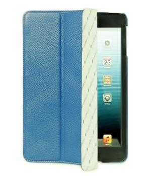Чехол-книжка Melkco Slimme Type для Apple iPad mini 1/2/3 (натуральная кожа с подставкой) голубой
