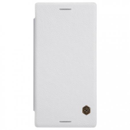 Чехол-книжка Nillkin QIN Leather Case для Sony Xperia XZ / XZ Dual натуральная кожа белыйдля Sony<br>Чехол-книжка Nillkin QIN Leather Case для Sony Xperia XZ / XZ Dual натуральная кожа белый<br>