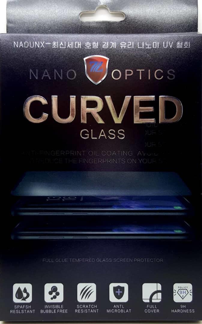 Купить Защитное стекло (Full Glue) Tempered Glass Nano Optics Curved для Samsung Galaxy S9+ (SM-G965F) (прозрачное антибликовое)