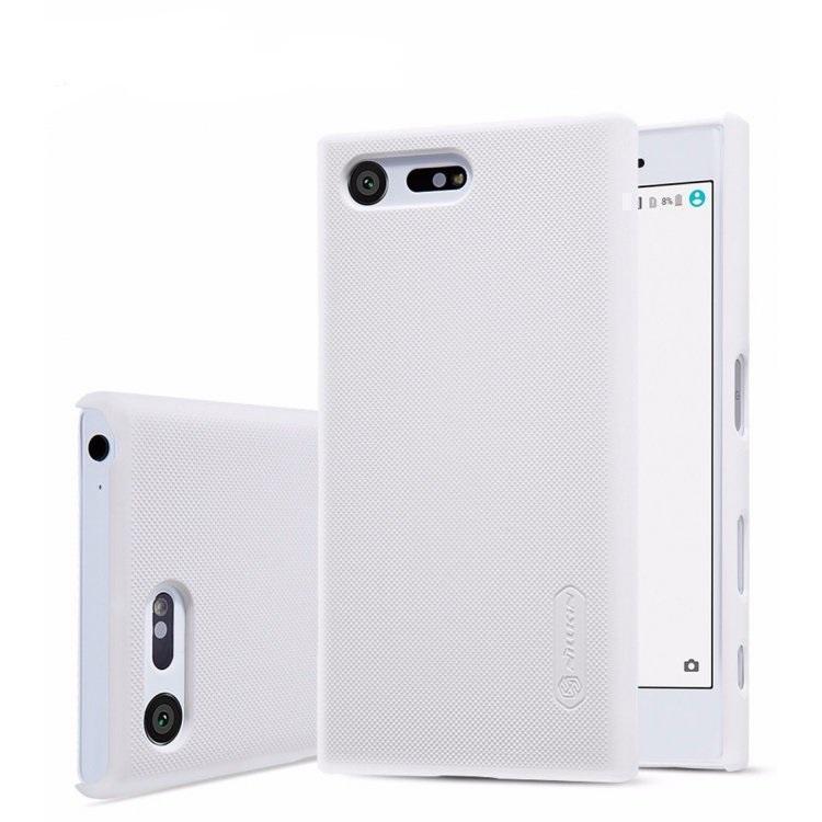 Чехол-накладка Nillkin Frosted Shield для Sony Xperia X Compact пластиковый белыйдля Sony<br>Чехол-накладка Nillkin Frosted Shield для Sony Xperia X Compact пластиковый белый<br>