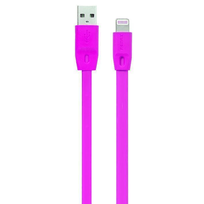 Кабель Remax Full Speed (USB) на (Lightning) 200см розовый(Apple lightning) кабели, переходники, адаптеры<br>Кабель Remax Full Speed (USB) на (Lightning) 200см розовый<br>