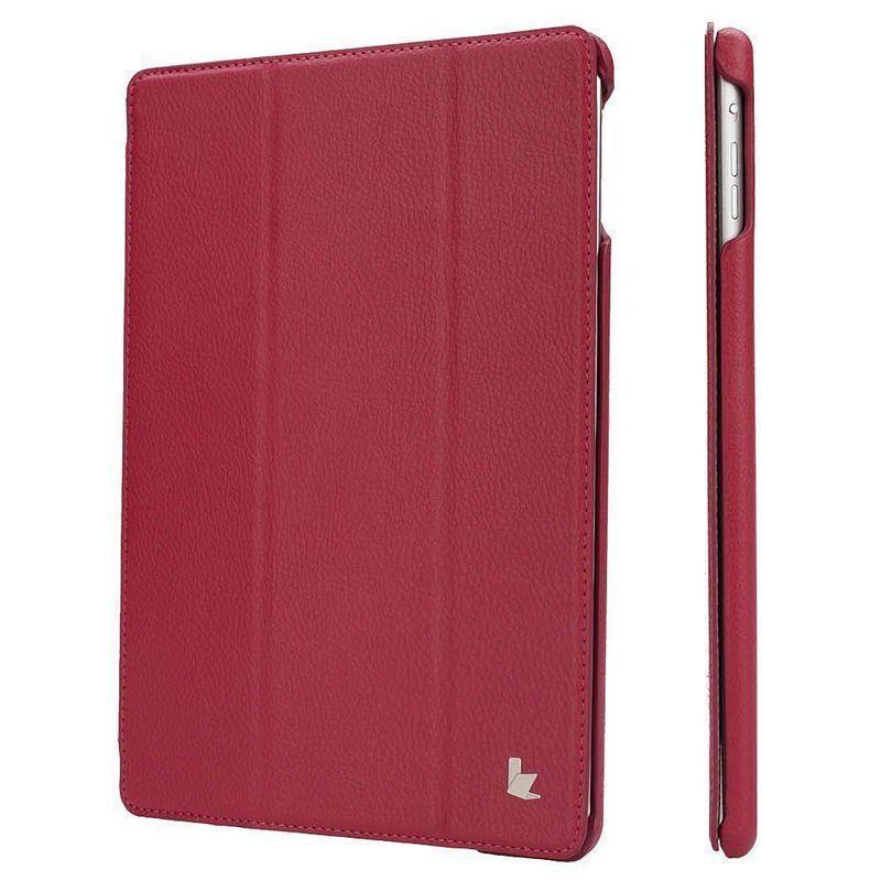 Чехол-книжка JustCase для Apple iPad Air (искусственная кожа с подставкой) малиновый