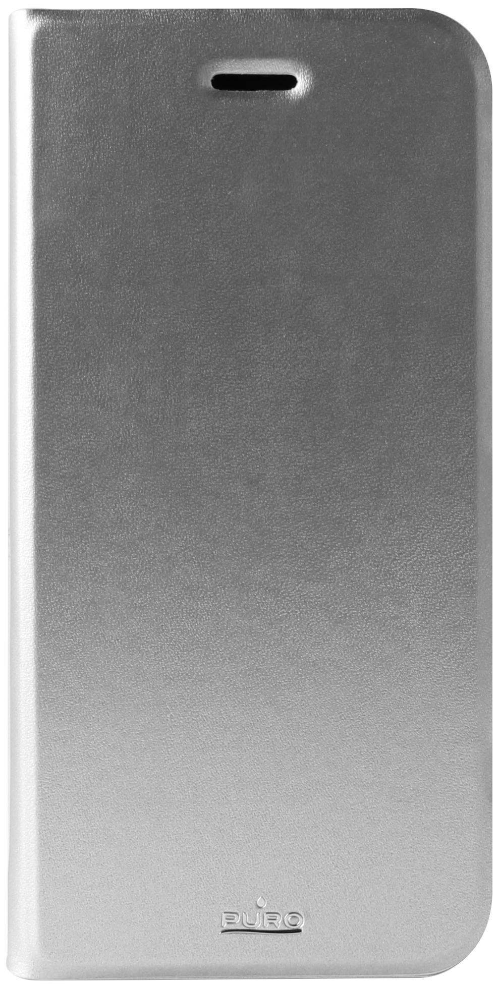 Чехол-книжка Puro Eco-leather Cover для Apple iPhone 6 Plus/6S Plus искусственная кожа серебристыйдля iPhone 6 Plus/6S Plus<br>Чехол-книжка Puro Eco-leather Cover для Apple iPhone 6 Plus/6S Plus искусственная кожа серебристый<br>