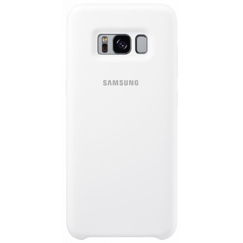 Чехол-накладка Samsung Silicone Cover для Galaxy S8 силикон белый (EF-PG950TWEGRU)для Samsung<br>Чехол-накладка Samsung Silicone Cover для Galaxy S8 силикон белый (EF-PG950TWEGRU)<br>