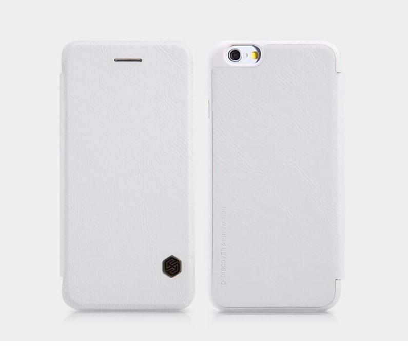 Чехол-книжка Nillkin QIN Leather Case для Apple iPhone 6 Plus/6S Plus натуральная кожа (белый)для iPhone 6 Plus/6S Plus<br>Чехол-книжка Nillkin QIN Leather Case для Apple iPhone 6 Plus/6S Plus натуральная кожа (белый)<br>