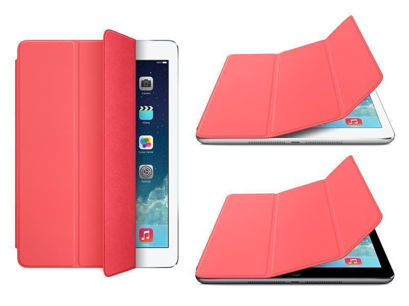 Чехол-книжка Smart Case для Apple iPad Air (искусственная кожа с подставкой) розовый