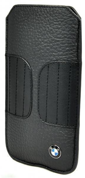 Чехол-пенал BMW Signature Sleeve для Apple iPhone SE/5S/5 натуральная кожа, black